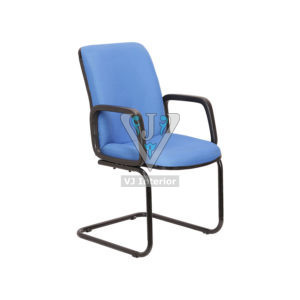 FABRIC MEDIUM BACK CHAIR IN BLUE COLOR