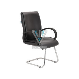 LEATHERETTE MID BACK VISITOR CHAIR