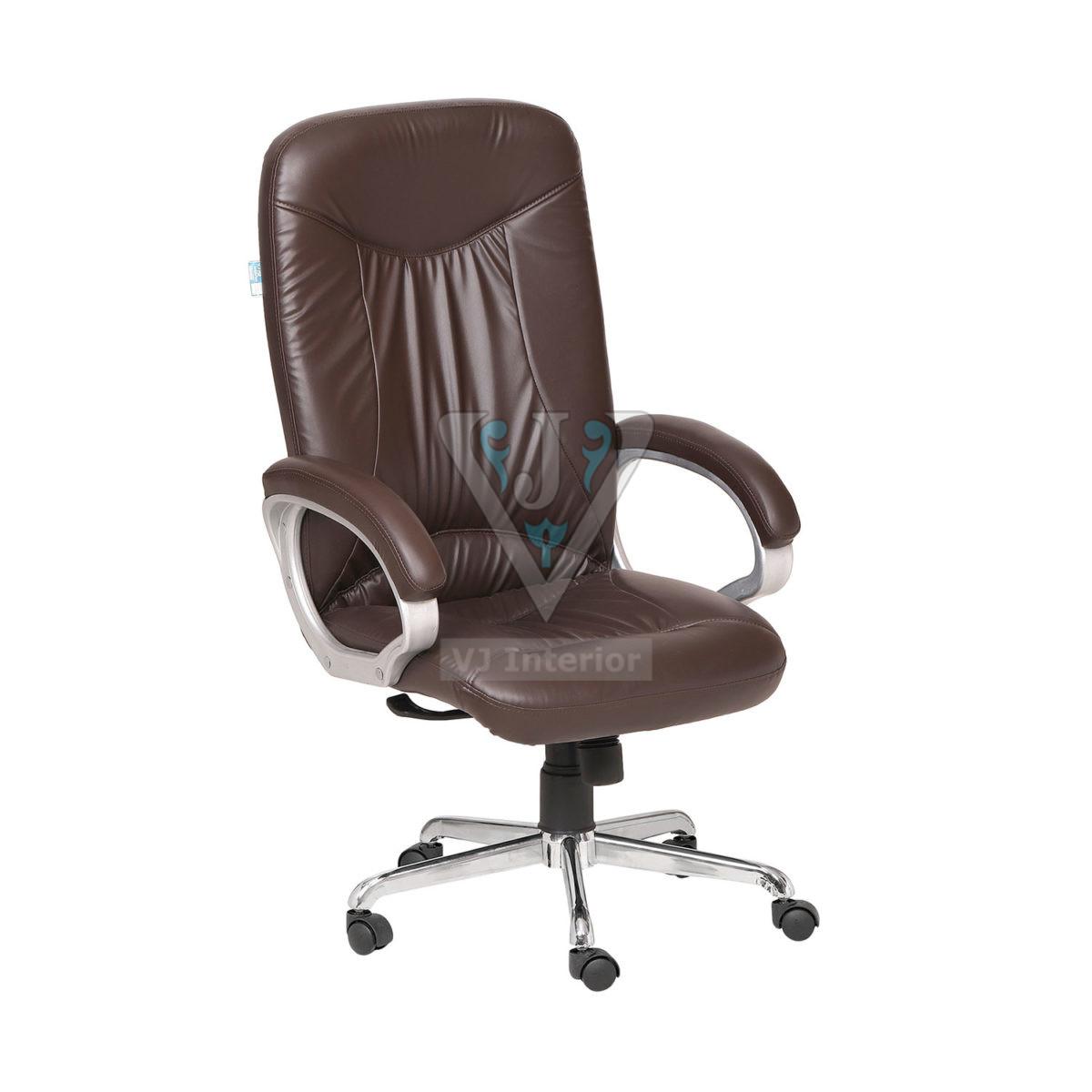Brown Plain Highback Executive Office Chair