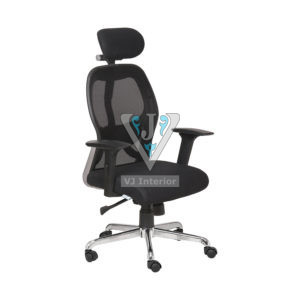 Mesh Executive Chair In Black Color With High Back