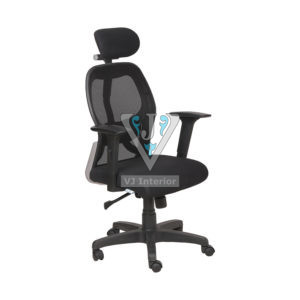 High Back Mesh Office Chair With Black Wheelbase