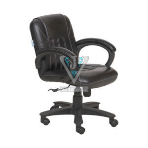 Leather Low Back Adjustable Visitors Office Chairs