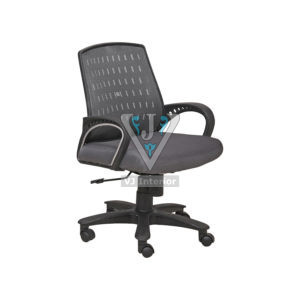 Black Mesh Fabric Low Back Office Chair