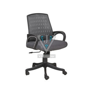 LOW BACK VISITOR OFFICE CHAIR IN BLACK