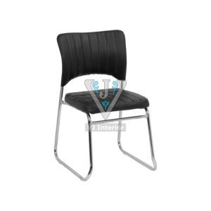 Black Fabric Office Executive Chair Without Armrest