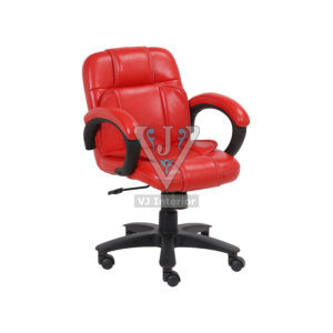 VISITOR LOW BACK OFFICE CHAIR IN RED