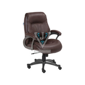 Designer Mid Back Full Brown Executive Office Chair