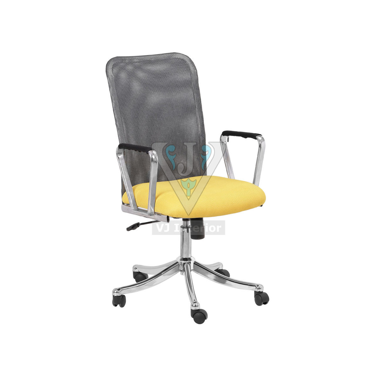 Mesh Fabric Office Visitor Chair With SS finish