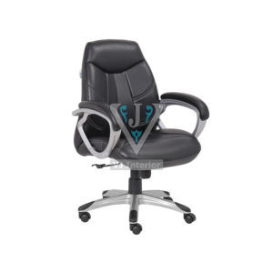 Black Mid Back Wide Backrest Office Executive Chair