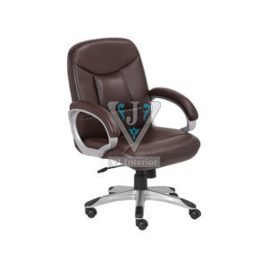 Brown Synthetic Leather Executive Office Visitor Chair