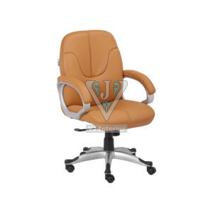 Mid Back Executive Chair In Tan Color