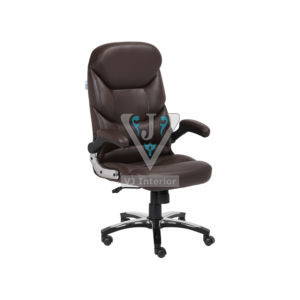 High Back Cushioned Leather Office Executive Chair