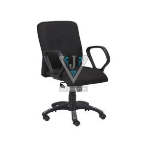FABRIC OFFICE CHAIR IN BLACK