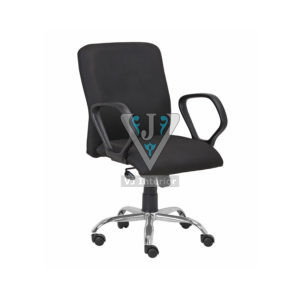 FABRIC VISITOR CHAIR IN BLACK
