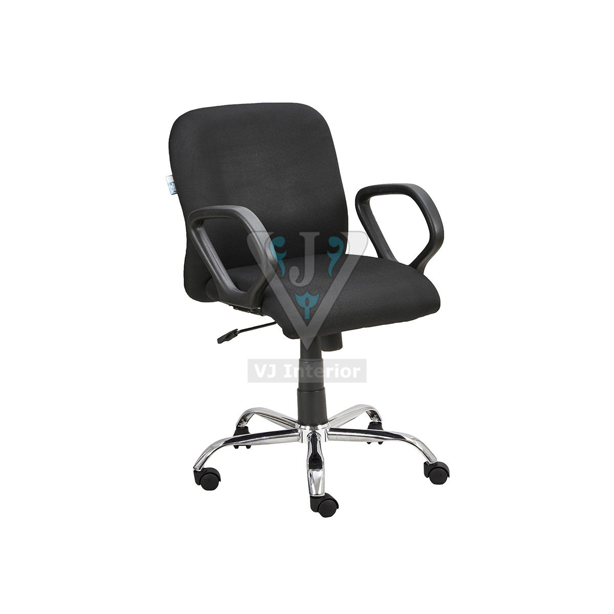 Black Office Reception Visitor Chair