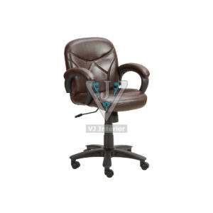 Low Back Leather Revolving Office Chair