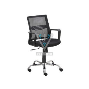 Mesh Fabric Office Visitor Chair Black
