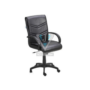Black Leather Executive Visitor Office Chair