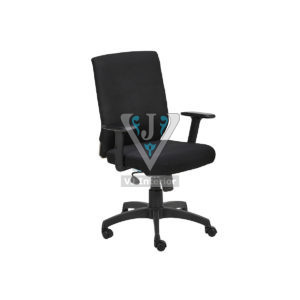 Padded Fabric High Back Revolving Office Chair