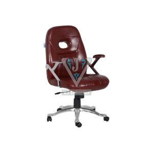 Brown Leatherette Senior Executive Revolving Chair