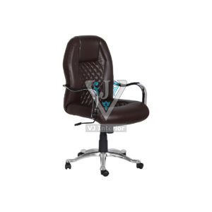 Directors Brown Leather Revolving Office Chair