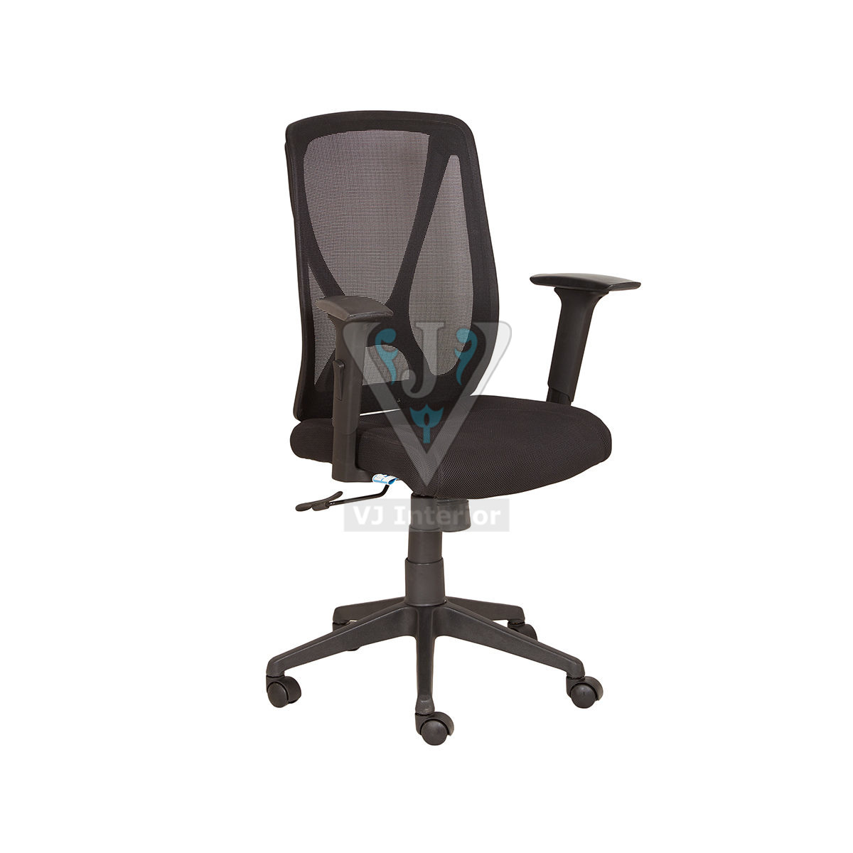 Black Mesh Finish Revolving Office Chair