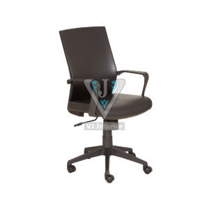 Plain High Back Executive Office Chair In Black