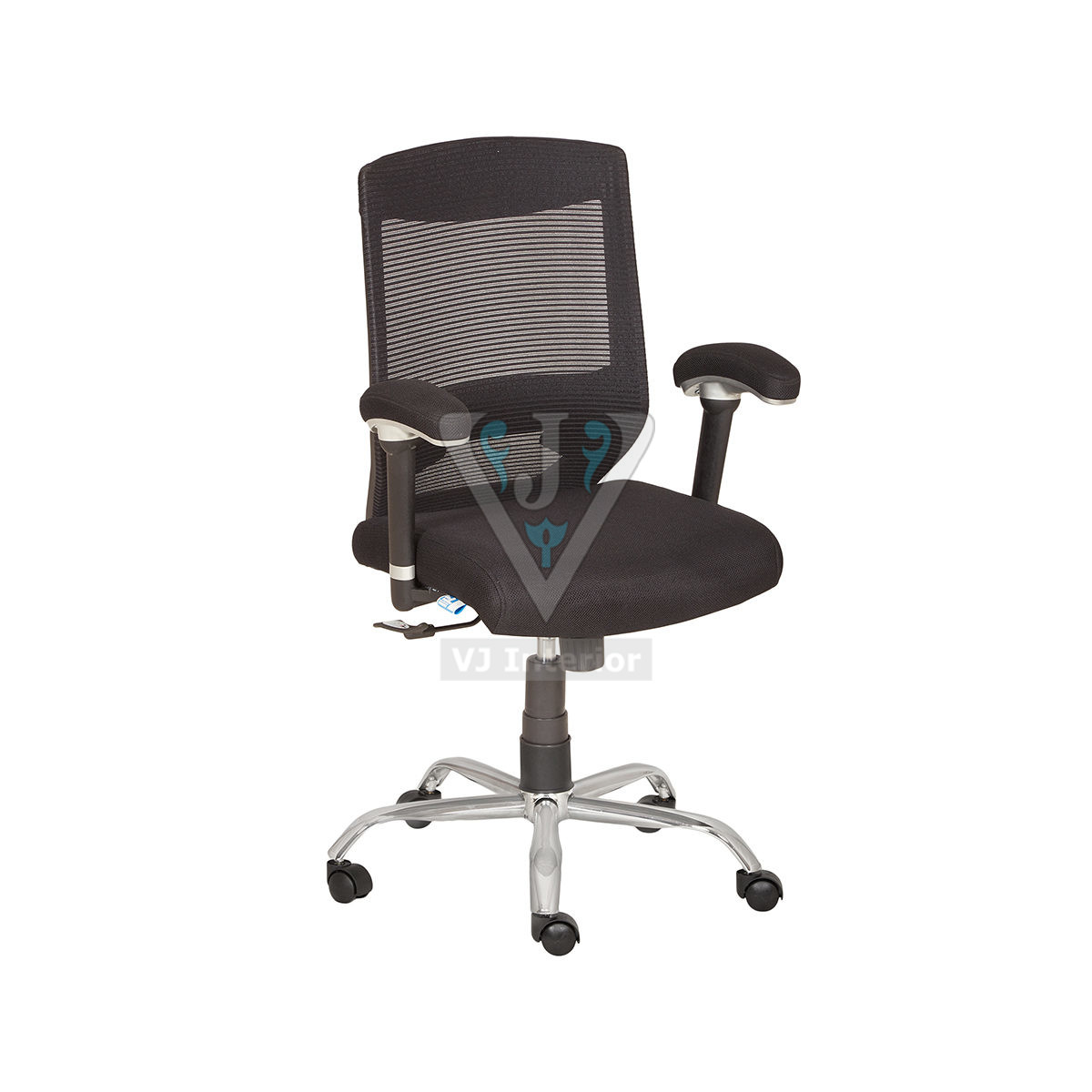 White Wheelbase Mesh Office Chair
