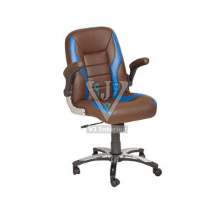 Designer Office Chair With Blue Outline
