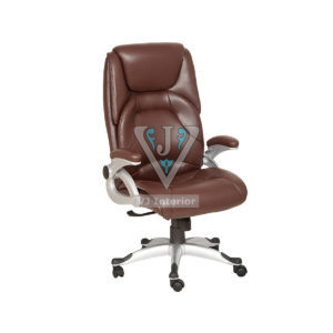Brown Executive Chair With SS Wheelbase