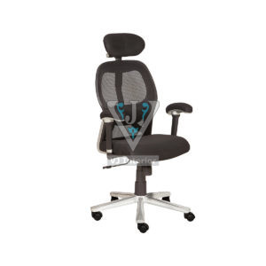Stainless Steel Finish Office Mesh Chair