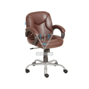Adjustable Mid Back Leather Office Chair