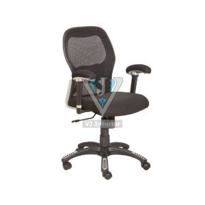 Black Mesh Office Chair With Designer Wheelbase