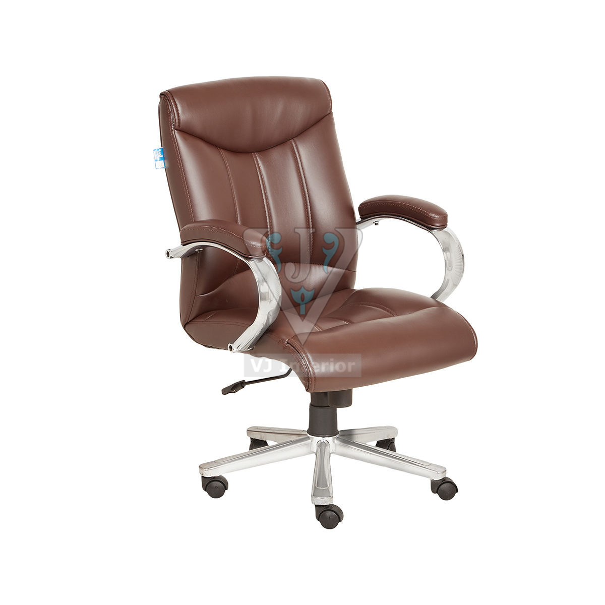 Brown Leather Finish Executive Office Chair