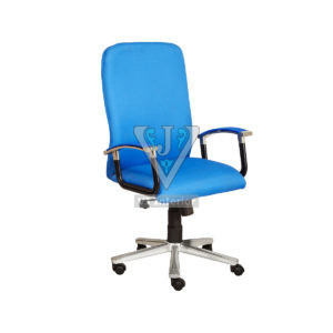 Blue Mesh Fabric Revolving Office Chair