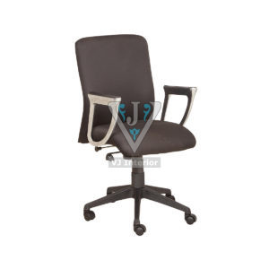 Black Fabric Visitor Office Chair