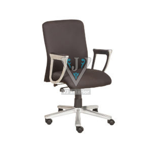 Adjustable Office Chair In Black Fabric