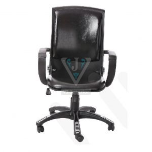 Creative Black Leatherette Folding Visitors Chair